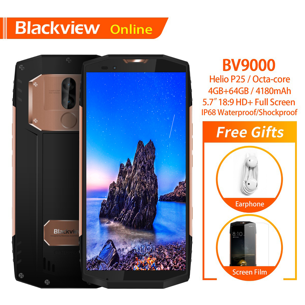 Blackview BV9000 5 7 inch IP68 Waterproof Smartphone 4GB 64GB Helio P25 Octa Core FHD 18