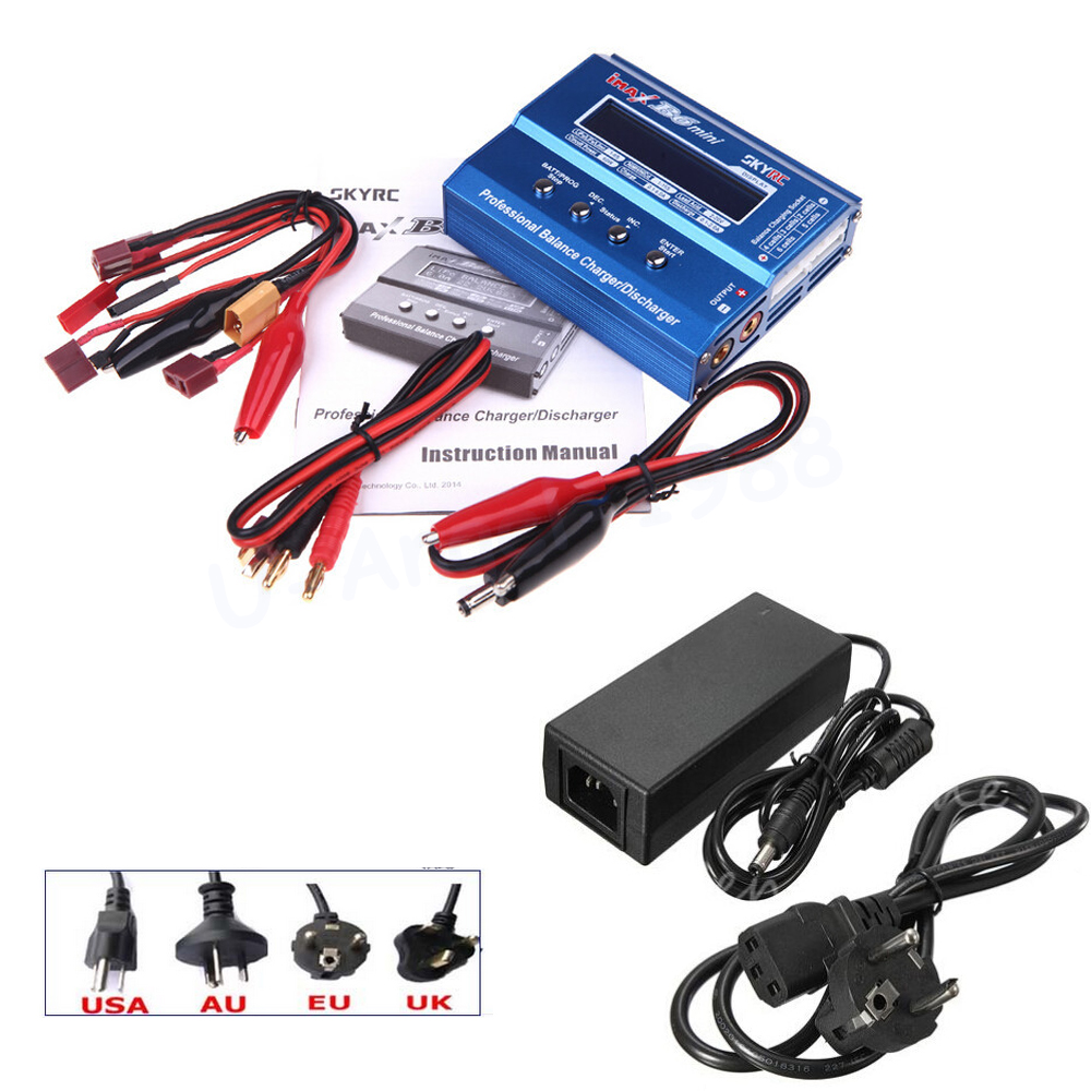 ФОТО Original SKYRC IMAX B6 MINI 60W Balance RC Charger/Discharger For RC Helicopter Re-peak for NIMH/NICD Aircraft + Power Adpater