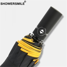 SHOWERSMILE Windproof Umbrella Folding Fully Automatic Sunny And Rainy Double Layer Men Women Business Pongee Umbrellas