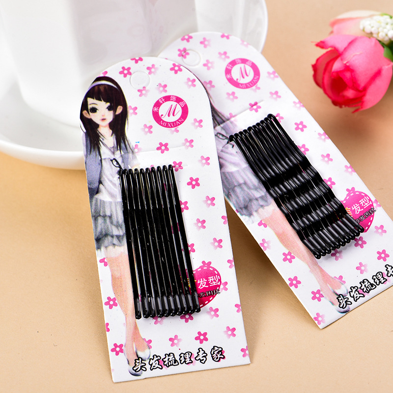 Popularity Simple Hairpins Black Alloy Hair Clip Bobby Pin Hair Accessories   Headwear   Ball Tip Bob Pins