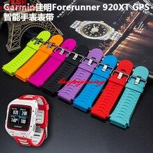 Para Garmin 920 precursor 920XT GPS de Calidad Correa de Caucho De Silicona venda de Reloj de pulsera Resistente Al Agua