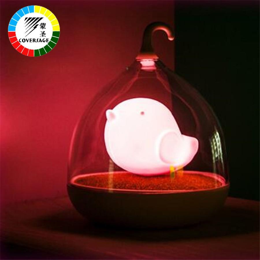 Coversage Sound Sensor Night Light Birdcage LED Dobíjecí Vánoční - Noční světla