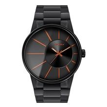 SINOBI Nuevos Hombres de la Moda Relojes de Pulsera Correa De Reloj Negro Top Lujo de la Marca Masculina de Oro Ginebra Cuarzo Reloj Caballeros Montres Hommes 2016