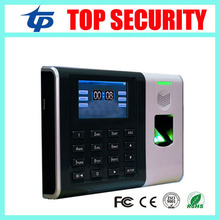 Free shipping biometric fingerprint time attendance TCP/IP color screen fingerprint employee time recording time clock system