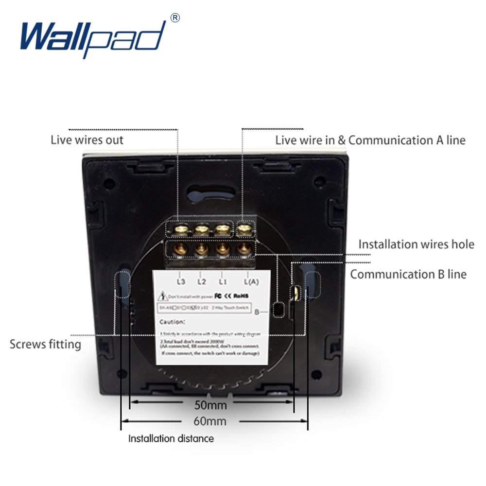 Buy 3 Gang 2 Way Intermediate Switch Wallpad Luxury Switches Also Light Wiring Further Black Crystal Glass Wall Touch 110 250v European Standard From Reliable