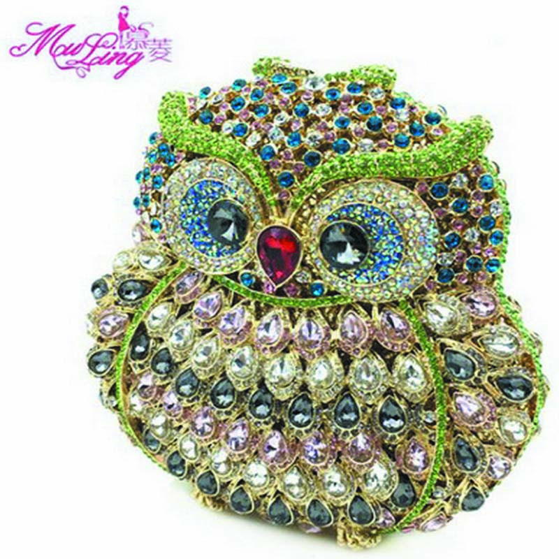 ec5b62bbe56 New Brand Luxury Crystal Clutches Evening Bag Owl Party Bag Women Wedding  Bag Chain Prom Diamond Purse Day Clutches Ladies Gift