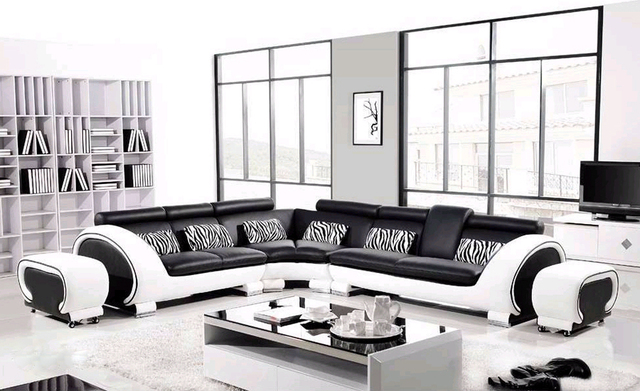 Luxury furnishings corner sofa bed modern furniture purple living ...
