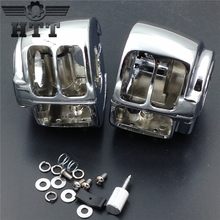 Aftermarket free shipping motorcycle parts Switch Housings Cover For Harley Davidson 2009 later Dyna Sportsters Softail V-Rod CD