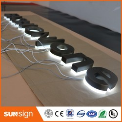 archaize stainless steel surface backlit logo led sign