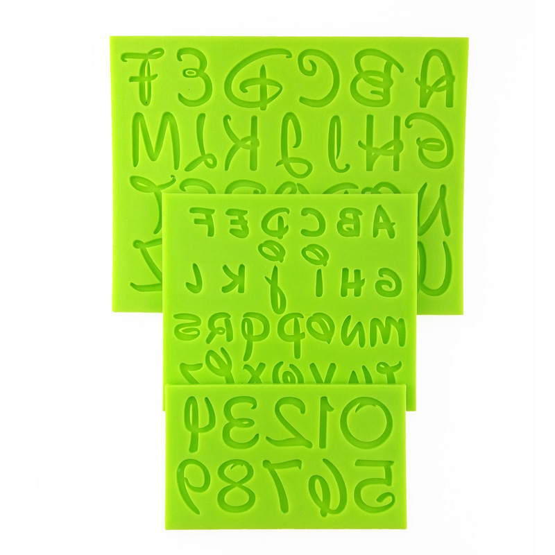 2017 New Arrival Capital Lowercase Alphabet/Letter Number Mold Kitchen <font><b>Accessories</b></font> <font><b>Fondant</b></font> Silicone Mould <font><b>Cake</b></font> <font><b>Decorating</b></font> <font><b>Tools</b></font> image