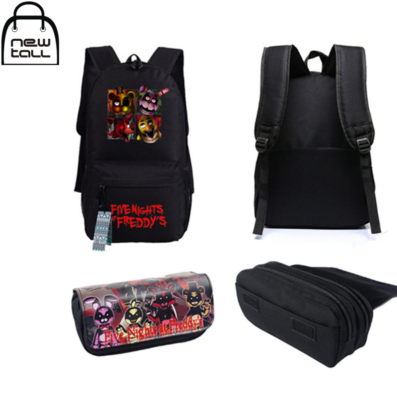 [NEWTALL] 2017 New Five Nights At Freddy's Freddy Chica Foxy Bonnie FNAF Shoulder Bag + Pencil Case G096