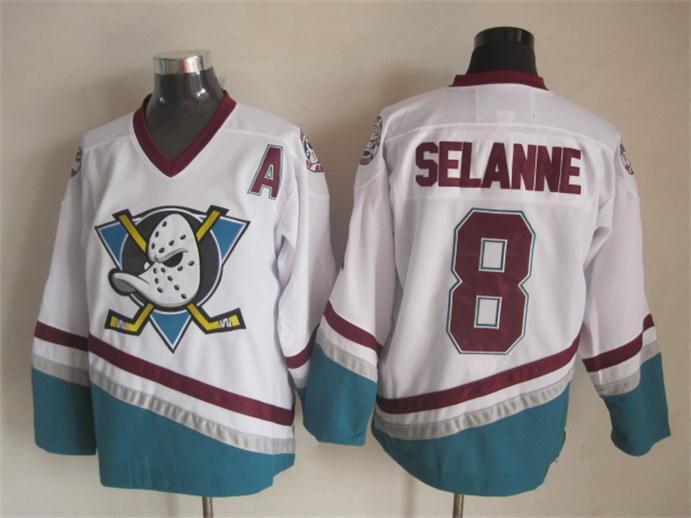 Ediwallen Anaheim Ducks 96 Charlie Conway Jersey hommes les puissants canards film vert 1993 Vintage maillots de Hockey sur glace violet blanc - 2