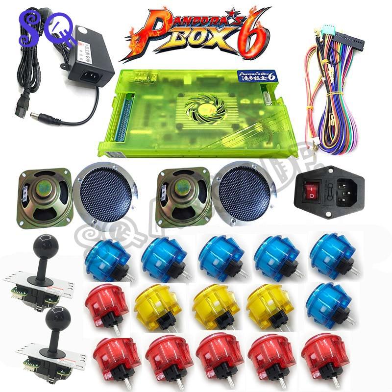 2018 Newest 2 Player Arcade Game DIY Kits with Pandora Box 6 copy sanwa Style Joystick