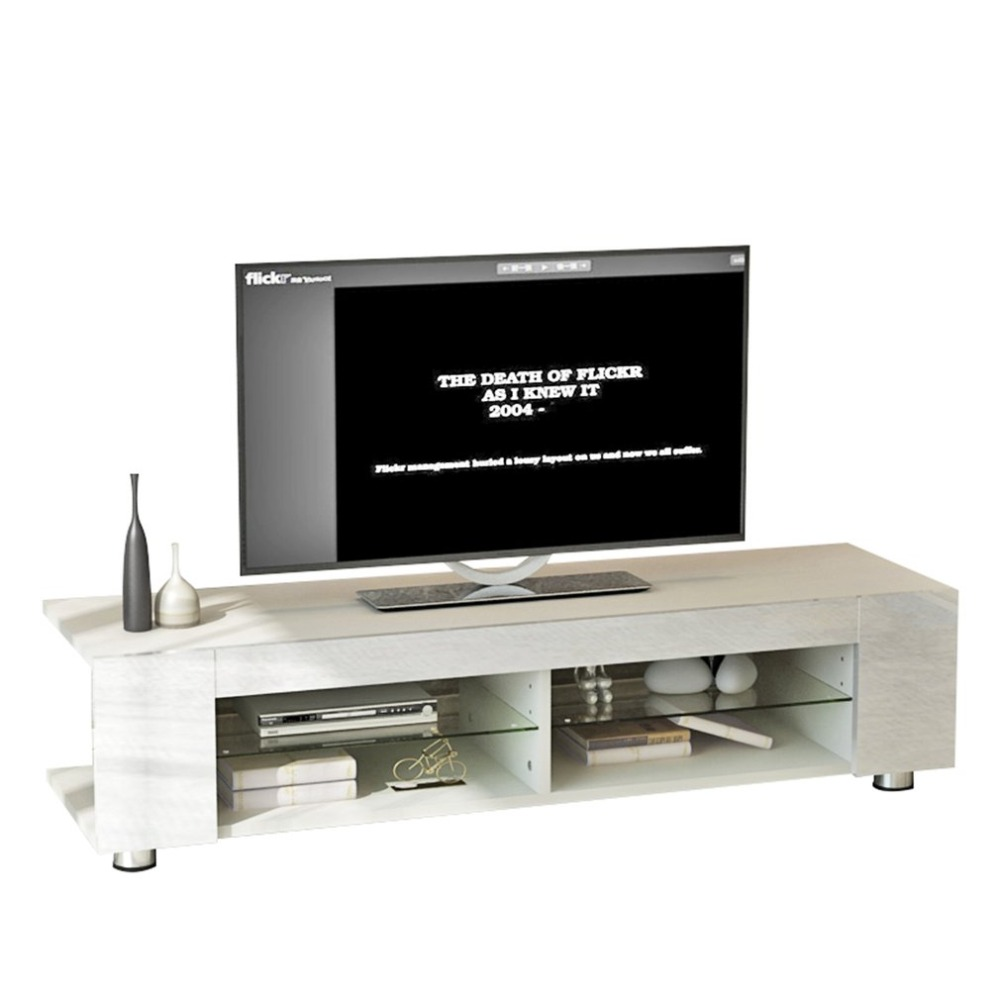 Modern LED TV Stand TV Table Cabinet Home Media Entertainment Console Stand For LCD LED Flat Panel Living Room Furniture italian design modern tv stand elegant wooden tv stand