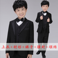 2016 New Direct Selling Disfraces Dance Costumes Boy Small Western Jacket Mounted Flower Doorman Costume Chorus Clothing Set