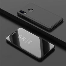 Smart Flip Stand Mirror Case For Huawei Y9 2019 Clear View PU Leather Cover for Y92019