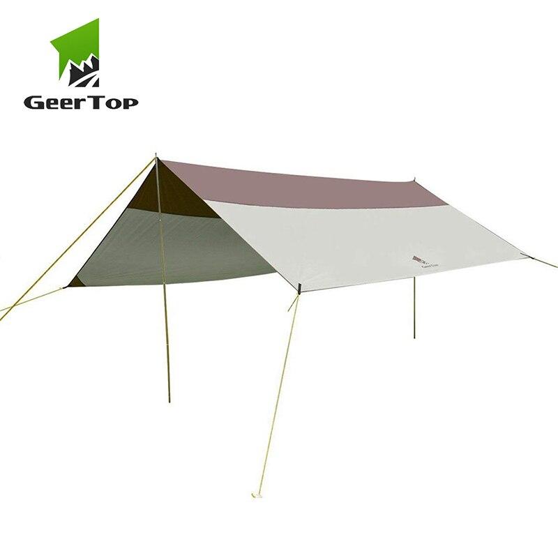 GeerTop Ultralight Awning Tent Tarp Beach Garden Sunshade Sun Shelter Rain Wind Ressitant Canopy Camping Outdoor