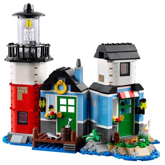Blocks Farol Building Serie El Cabaña Con Arquitectura Legoing 3in1 Educativos Juguetes Compatible QBWrxedCo