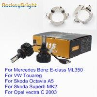 Rockeybright H7 LED Headlight H7 Bulb Holder Adapter For Mercedes Benz ML350 LED H7 headlamp for VW Touareg Skoda Octavia Superb