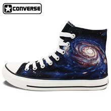 Planet Galaxy Nebula Original Design Converse All Star Hand Painted High Top Canvas Shoes Men Women Sneakers Woman Man
