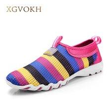 Zapatos de las mujeres de Moda Casual Slip-On Transpirable zapatos de verano Pisos de estilo Para la mujer Vestido de Color Sólido Punta Redonda cómoda mocasines