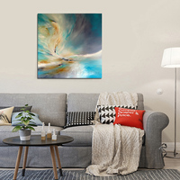 Hot Selling High Quality Handmade Abstract Sky Oil Painting On Canvas Hand-painted Abstract Landscape Canvas Painting Decorative