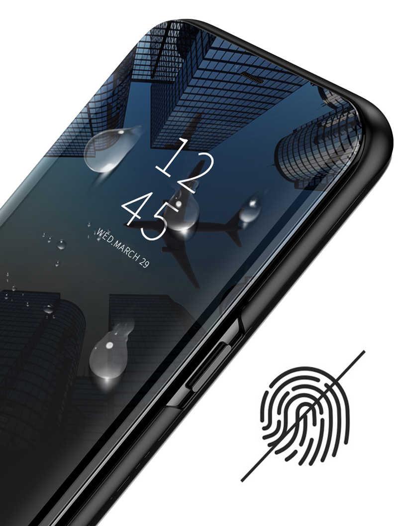 Умный зеркальный флип-чехол для huawei Honor 10 20 Lite Pro 8X 8A 8C 8S Play View 9 Y5 Y6 Y7 Y9 Prime P Smart 2019 Z чехол для телефона
