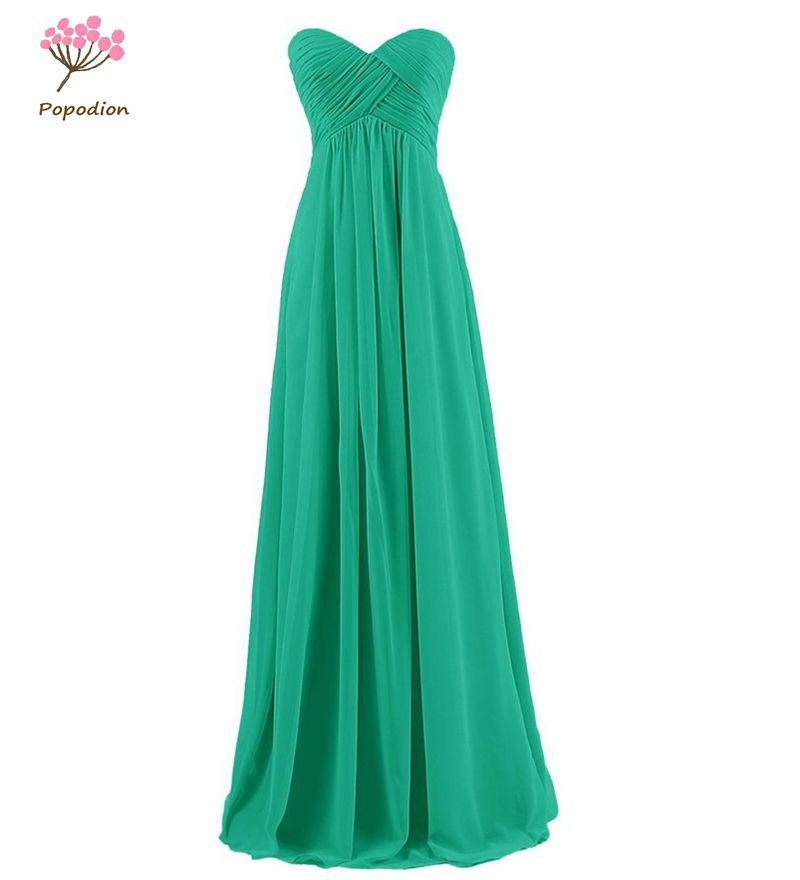 d48667b8a31 Popodion strapless plus size bridesmaid dresses long for wedding guests sister  party dress chiffon prom dresses