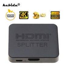 Kebidu Switch compatibile HDMI di recente Full HD 1080p HDCP 4K Switcher compatibile HDMI 1X2 Split 1 in 2 Out amplificatore doppio Display