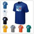 Cheap New York Rangers Rangers T Camisas Big & Logo Alto Moda T Camisa de Algodão de Manga Curta T-shirt O-pescoço