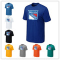 Cheap New York Rangers  T Shirts Big&Tall Logo Fashion Rangers  Tees Shirt Cotton Short Sleeve O-Neck T-shirt