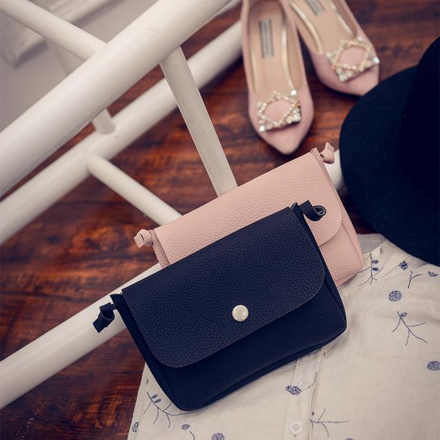 2017 Women Leather Handbags Famous Brand Women Small Messenger Bags Female Crossbody Shoulder Bags Clutch Purse Bag