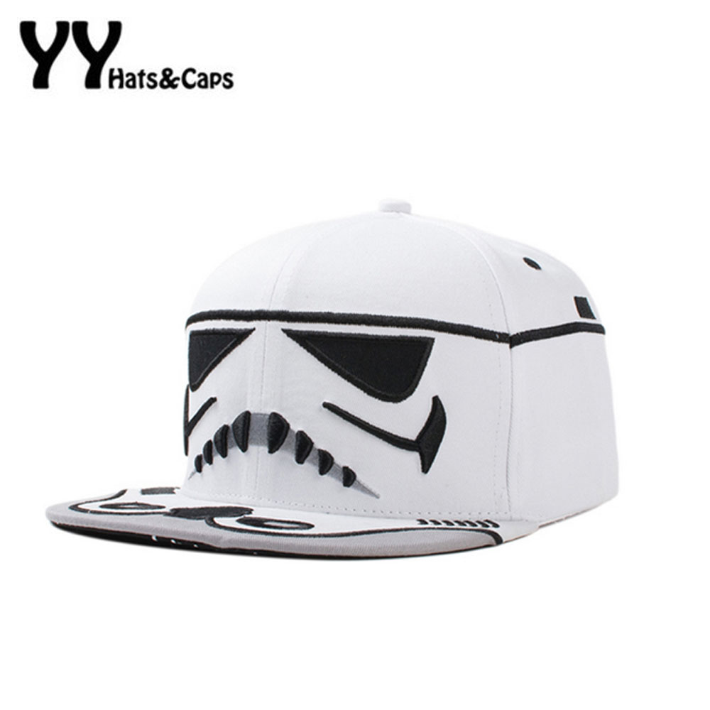 Adjustable Men Snapback Caps Hip Hop Star War Cap Baseball Cap Bboy Kpop Cavalry Letter Brim Baseball Hats Bone YY60241 branded snapback caps men spring baseball cap unisex letter hip hop hat for men casual adjustable dad hats bone masculino