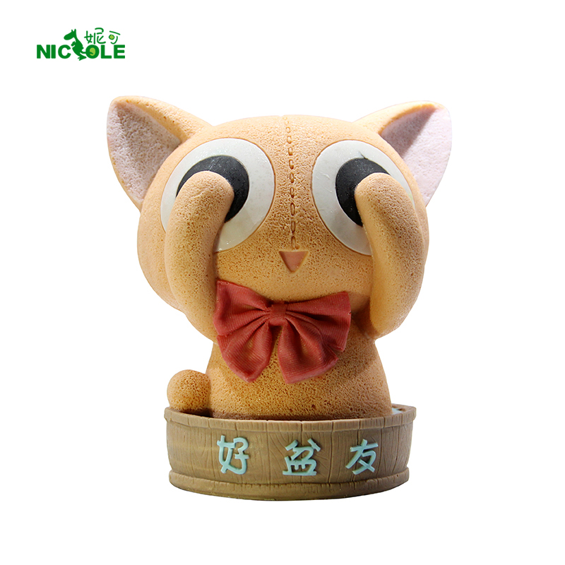 Nicole Lovely Bath Cat Silicone Mousse Cake Mold 3D Ice Cream Chocolate Tool Resin Clay Craft Handmade Soap Candle Mould
