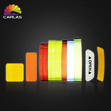 CARLAS Auto Reflective Sticker Car Warning Tape Security Door Stickers OPEN Sign Safety Night Luminous Car Accessories Sticker