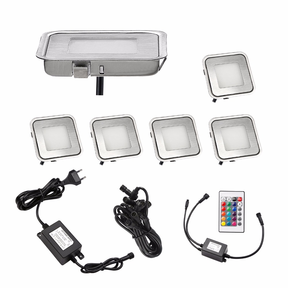 Quality Waterproof Exterior Led Lawn Lamp Recessed Outdoor Lighting Underground Light Rgb,blue,warm White,cold White 6pcs/set B102-6 Superior In