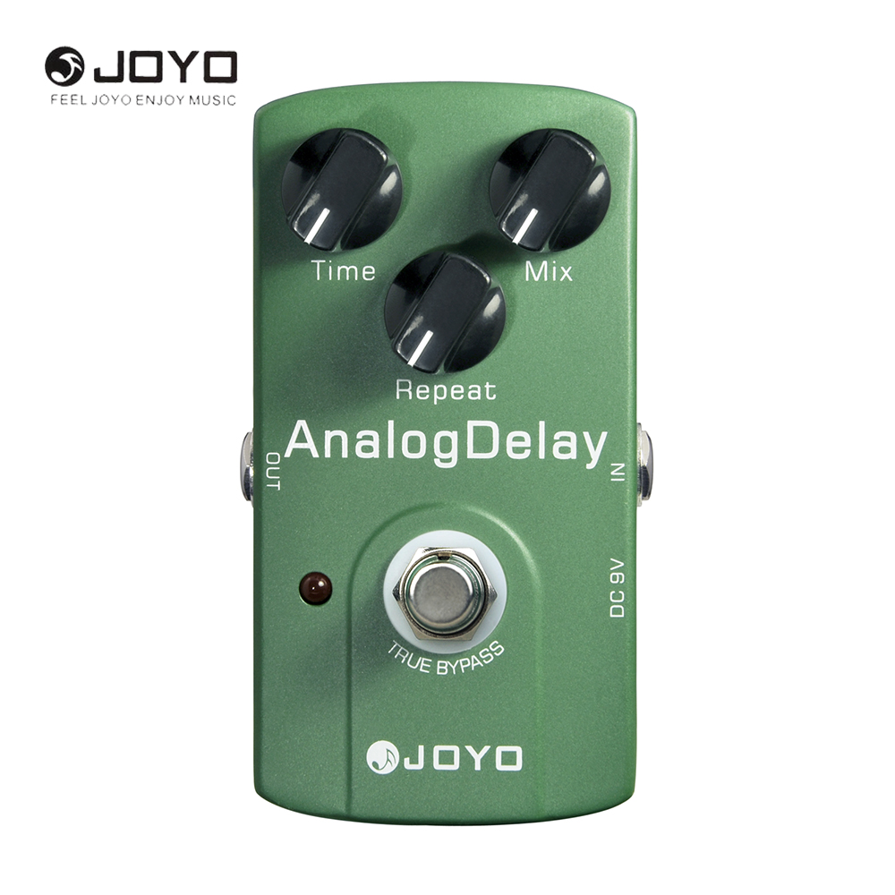 JOYO JF-33 True Bypass Analog Delay Guitar Effect Pedal Box Warm Output Tone Musical Instrument Electric Guitar Accessories aroma adl 1 true bypass delay electric guitar effect pedal high quality aluminum alloy guitar accessories delay range 50 400ms
