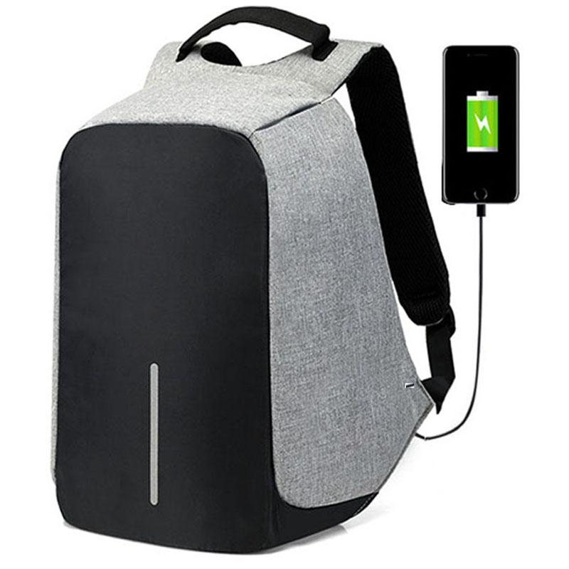 Image 2 - 15 inch Laptop Backpack USB Charging Anti Theft Backpack Men Travel Backpack Waterproof School Bag Male Mochila-in Backpacks from Luggage & Bags
