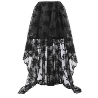 Gothic Skirt Women Summer Steampunk Clothing High Low Vintage Party Skirts Medieval Victorian Goth Renaissance Lace Skirt Faldas