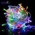 110 v/220 V Led Cadena de Luces de Navidad 10 m/100 led Con 8 Modos de decoraciones De Navidad para Home/Vacaciones/Fiesta/Boda