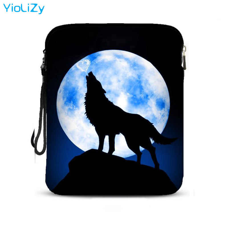 Wolf print 9.7 inch smart tablet tas notebook beschermhoes valweerstand laptop Case Voor Apple iPad Air Pro 2 IP-5084