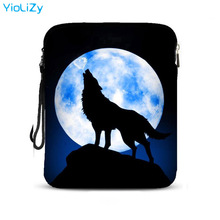 wolf print 9.7 inch smart tablet bag notebook protective sleeve Drop resistance laptop Case For Apple iPad Air Pro 2 IP-5084 skull print 9 7 inch laptop bag women smart pc tablet case notebook protective skin cover sleeve for apple ipad air pro ip 5730