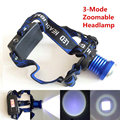 Head Light Head Lamp Cree XM-L T6 Led 2000LM Rechargeable Headlamps Headlights Lamp Lights+AC/CAR Charger