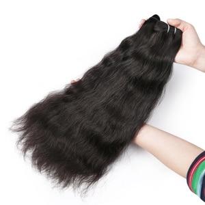 Image 3 - Rosabeauty Ruwe Indische Maagd Haar Weave Bundels Natuurlijke Rechte 100% Human Hair Extension Natuurlijke Kleur 10 40 28 30 inch