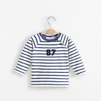 Baby Boys Clothes Spring And Autumn Long Sleeve Cotton Sweater Children Striped O-neck Shirt T-shirt For Boys Long Sleeve Tops