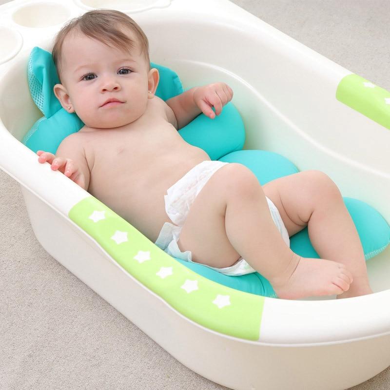 Baby Bath Tub Pillow Pad Air Cushion Mat Floating Soft Seat for Infant Newborn M09