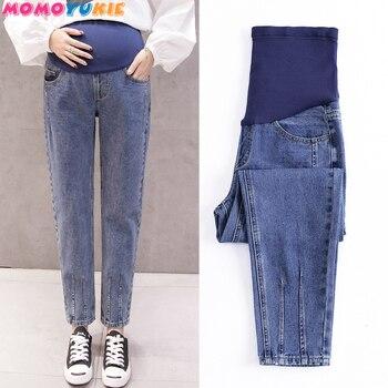 6f5e69a0d Pantalones de maternidad para las mujeres embarazadas ropa de embarazo  pantalones vaqueros pantalones Plus tamaño ajustable