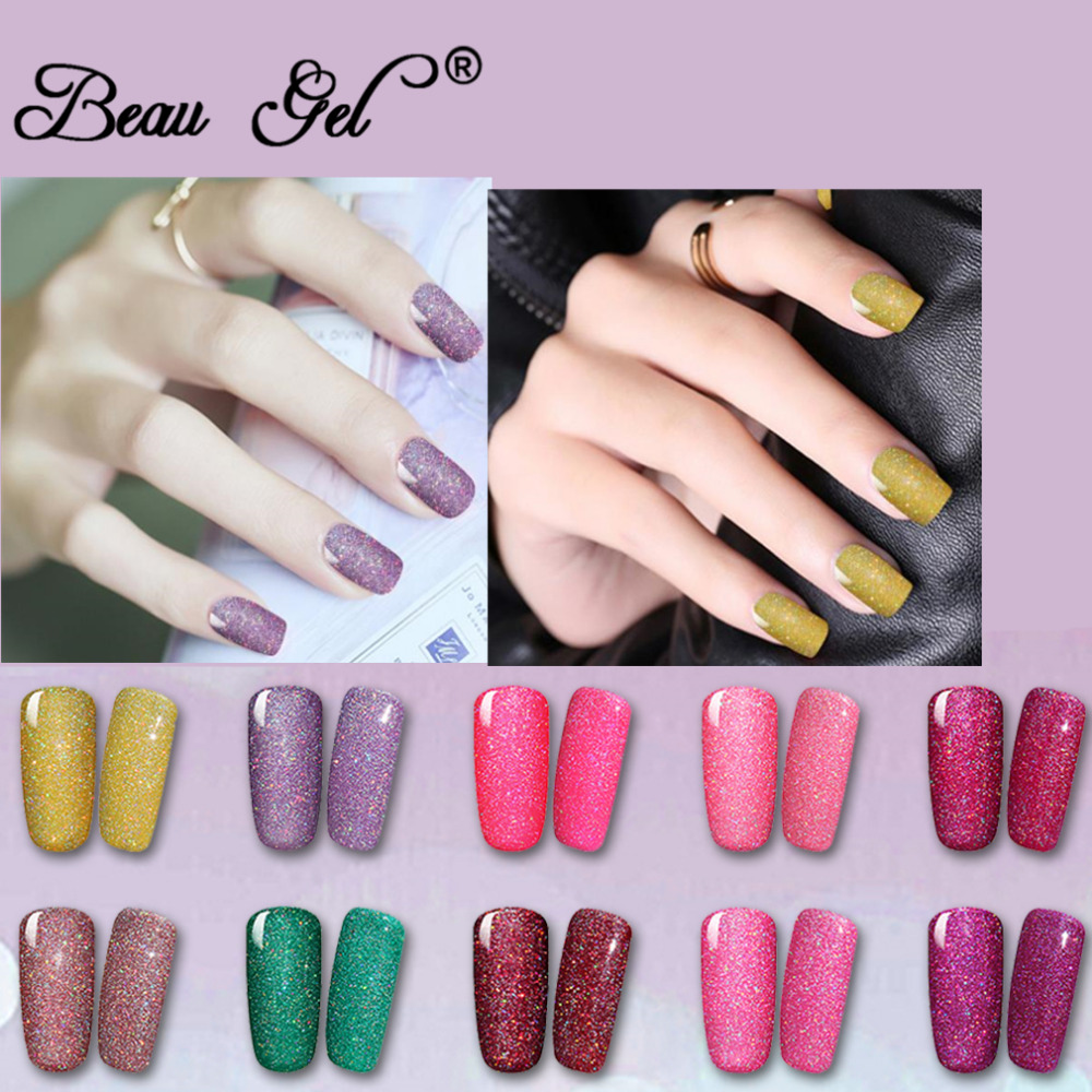 Beau Gel 10 ml Glitter Neon Gel Unha Polonês Soak Off UV LEVOU Hybird Varnish Gelpolish Semi Permanente Para Nail Art Design Manicure