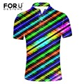 FORUDESIGNS Sales Rainbow Clothing Men Polo Shirt Men Business & Casual Male Polo Shirt Short Sleeve Breathable Polo Shirt Men