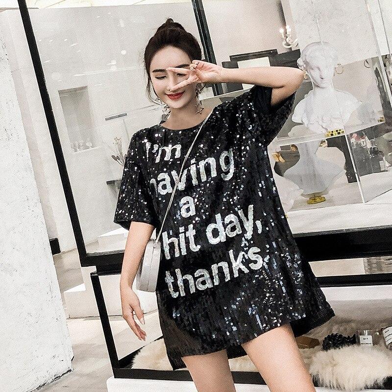 Женская футболка с коротким рукавом ulzzang, футболка большого размера с принтом в стиле хип хоп, LT014S50, 2019
